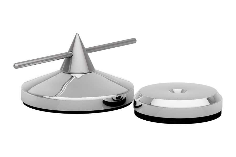Spike Ø 36mm justierbar und Disk Ø 30mm silber