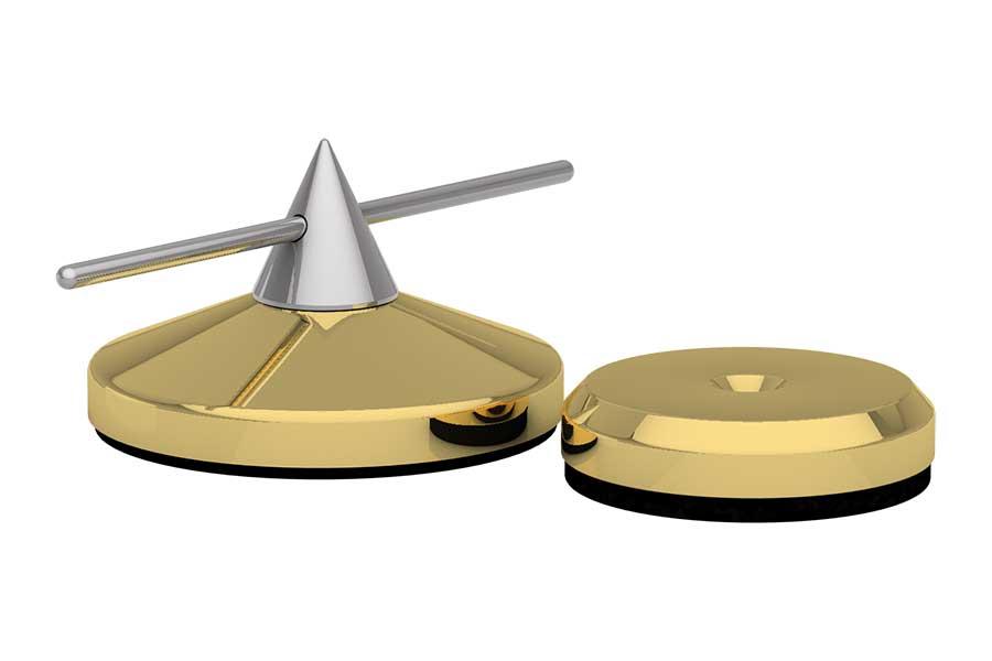 Spike Ø 36mm justierbar und Disk Ø 30mm gold