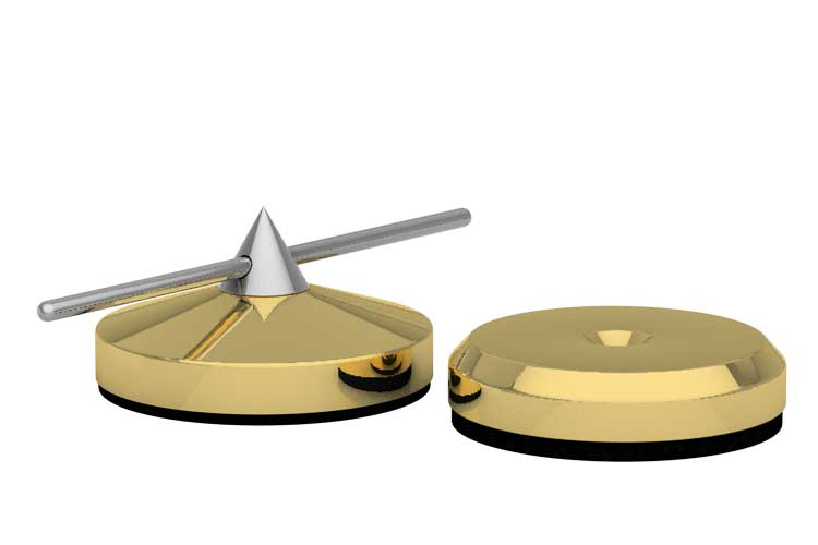 Spike Ø 30mm und Disk Ø 30mm gold