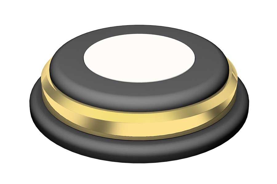 Dämpfer Ø 75mm gold