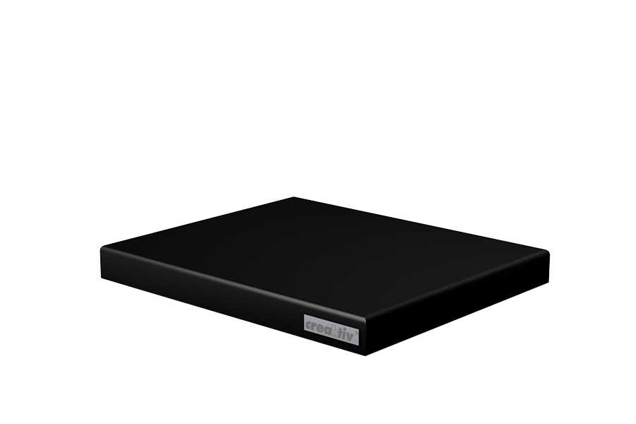 Absorberplatte 360x300x36 schwarz