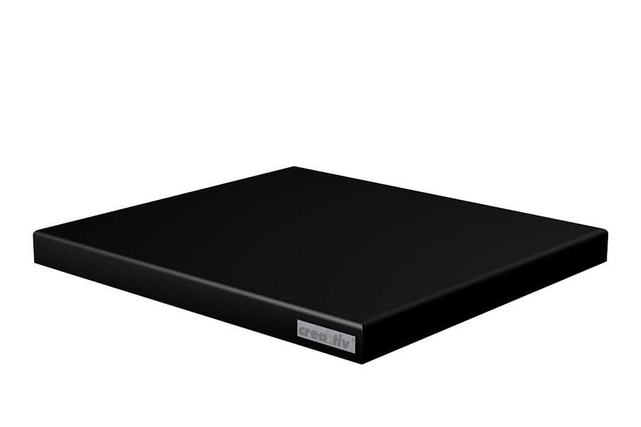 Absorberplatte 440x400x36 schwarz